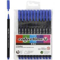 Pennarello Colortime Fineliner, ampiezza tratto 0,6-0,7 mm, blu scuro, 12 pz/ 1 conf.