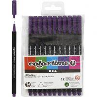 Pennarello Colortime Fineliner, ampiezza tratto 0,6-0,7 mm, viola, 12 pz/ 1 conf.