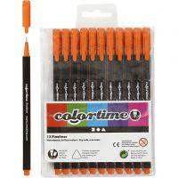 Pennarello Colortime Fineliner, ampiezza tratto 0,6-0,7 mm, arancio, 12 pz/ 1 conf.