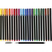 Pennarello Colortime Fineliner, ampiezza tratto 0,6-0,7 mm, colori asst., 24 pz/ 1 conf.