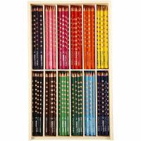 Matite colorate Groove Slim, L: 18 cm, mina 3,3 mm, colori asst., 12x12 pz/ 1 conf.