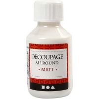 Vernice per decoupage, opaco, 100 ml/ 1 bott.