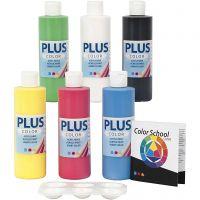 Plus Color Craft Paint, colore primario, 6x250 ml/ 1 conf.