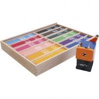 Matite colorate edu jumbo, mina 6,25 mm, colori asst., 12x12 pz/ 1 conf.