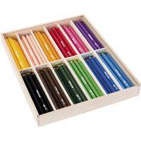 Matite colorate edu jumbo, spess. 10 mm, mina 6,25 mm, colori asst., 12x12 pz/ 1 conf.