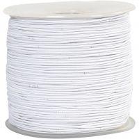 Corda elastica, spess. 1 mm, bianco, 250 m/ 1 rot.