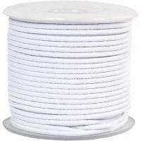 Corda elastica, spess. 2 mm, bianco, 25 m/ 1 rot.