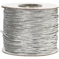 Corda elastica, spess. 1 mm, argento, 100 m/ 1 rot.