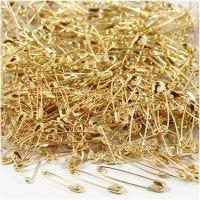 Spille da balia, L: 19+22+28 mm, spess. 0,5-0,6 mm, oro, 600 pz/ 1 conf.