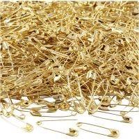 Spille da balia, L: 22 mm, spess. 0,6 mm, oro, 500 pz/ 1 conf.