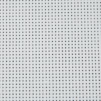 Tela Aida, L: 150 cm, 43 quadrati per 10 cm , bianco, 3 m/ 1 pz