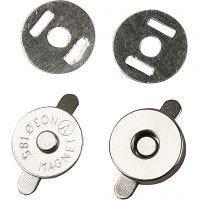 Bottone magnetico, diam: 18 mm, 4 pz/ 1 conf.