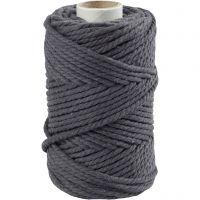 Corda per Macramé, L: 55 m, diam: 4 mm, grigio, 330 g/ 1 rot.