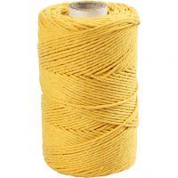 Corda per Macramé, L: 198 m, diam: 2 mm, giallo, 330 g/ 1 rot.