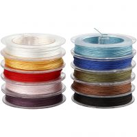 Corda in poliestere, spess. 1 mm, colori asst., 10x50 m/ 1 conf.