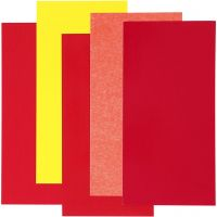Color Dekor, rosso/arancio/giallo, 5 fgl. asst./ 1 conf.