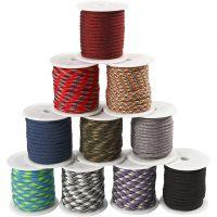 Corda di nylon, L: 5 mm, colori asst., 10x10 m/ 1 conf.