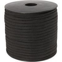 Corda di nylon, L: 5 mm, nero, 50 m/ 1 rot.