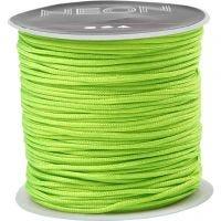 Corda di nylon, spess. 1 mm, verde neon, 28 m/ 1 rot.