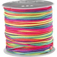 Corda di nylon, spess. 1 mm, colori neon, 28 m/ 1 rot.