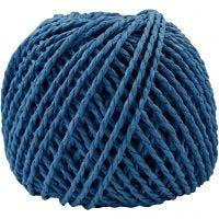Filo di carta, spess. 2,5-3 mm, blu scuro, 40 m/ 1 gom., 150 g
