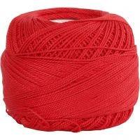 Filo di cotone mercerizzato, rosso, 20 g/ 1 gom.