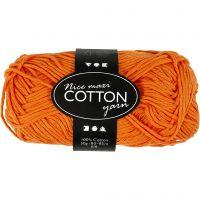 Filo di cotone, dim. 8/8, L: 80-85 m, misura maxi , arancio, 50 g/ 1 gom.