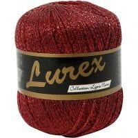 Filo in lurex, L: 160 m, rosso, 25 g/ 1 gom.