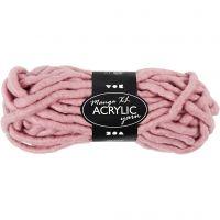 Filato spesso Chunky in acrilico, L: 17 m, misura manga , rosato, 200 g/ 1 gom.