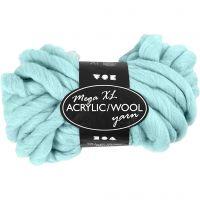 Filato spesso Chunky in lana/acrilico, L: 15 m, misura mega , turchese, 300 g/ 1 gom.
