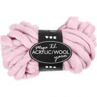 Filato spesso Chunky in lana/acrilico, L: 15 m, misura mega , rosato, 300 g/ 1 gom.