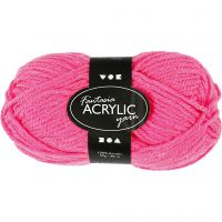 Filo acrilico Fantasia, L: 80 m, neon pink, 50 g/ 1 gom.