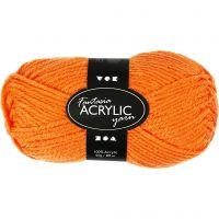 Filo acrilico Fantasia, L: 80 m, neon orange, 50 g/ 1 gom.