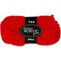 Filo acrilico Fantasia, L: 80 m, rosso, 50 g/ 1 gom.