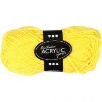 Filo acrilico Fantasia, L: 80 m, giallo, 50 g/ 1 gom.