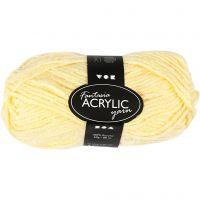 Filo acrilico Fantasia, L: 80 m, giallo chiaro, 50 g/ 1 gom.
