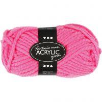 Filo acrilico Fantasia, L: 35 m, misura maxi , neon pink, 50 g/ 1 gom.