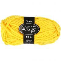 Filo acrilico Fantasia, L: 35 m, misura maxi , giallo, 50 g/ 1 gom.