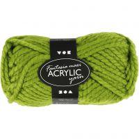 Filo acrilico Fantasia, L: 35 m, misura maxi , verde, 50 g/ 1 gom.