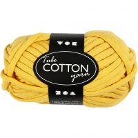 Filo tubolare in cotone, L: 45 m, giallo, 100 g/ 1 gom.