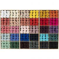Filato in cotone, dim. 8/4, L: 170 m, colori asst., 300 gom./ 1 conf.