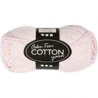 Filato in cotone, dim. 8/4, L: 170 m, rosa pallido, 50 g/ 1 gom.