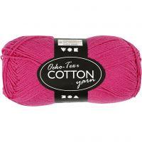 Filato in cotone, dim. 8/4, L: 170 m, rosa, 50 g/ 1 gom.