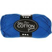 Filato in cotone, dim. 8/4, L: 170 m, blu cobalto, 50 g/ 1 gom.