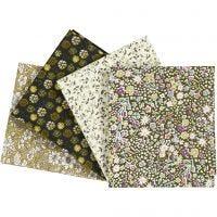 Stoffa patchwork, misura 45x55 cm, 100 g, verde, 4 pz/ 1 conf.