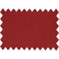 Stoffa in cotone, L: 145 cm, 140 g, rosso natalizio, 1 risma