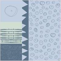 Stoffa, L: 145 cm, 140 g, blu, 1 risma