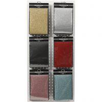 Pellicola da stirare, 148x210 mm, glitter, colori asst., 6x10 fgl./ 1 conf.
