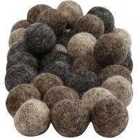 Palle di feltro, diam: 20 mm, natural, 64 pz/ 1 conf.