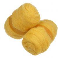 Lana cardata, giallo, 2x100 g/ 1 pacch.